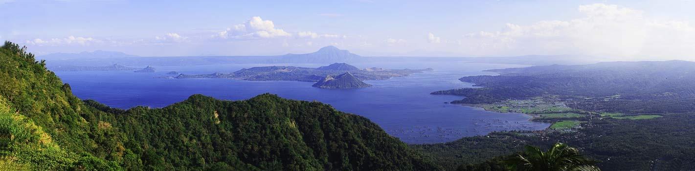 Island horizon landscape image
