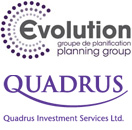 Evolution and Quadrus logos