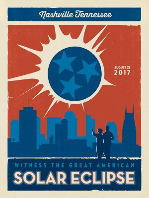 2017 Nashville Solar Eclipse: TN State Flag