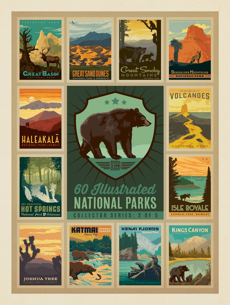 3 of 5: American National Parks Collector Series