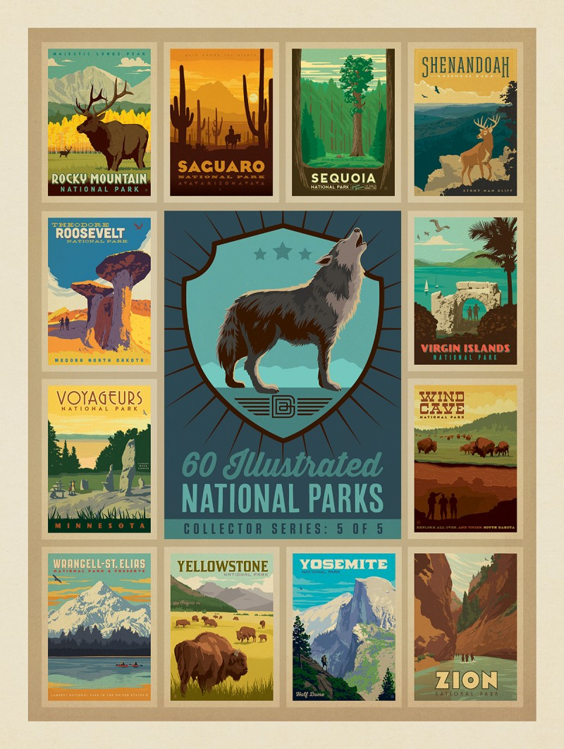 National Parks Collector Series: 5 of 5