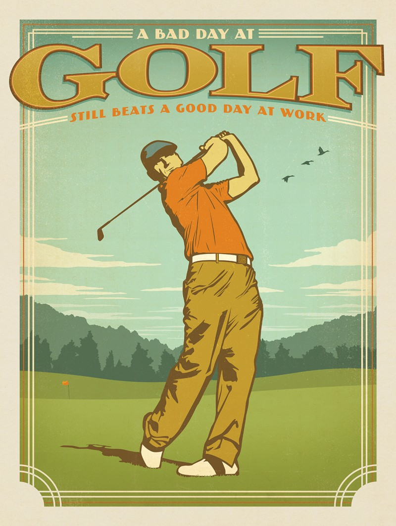Anderson Design Group – Man Cave Collection – Bad Day at Golf vs ...