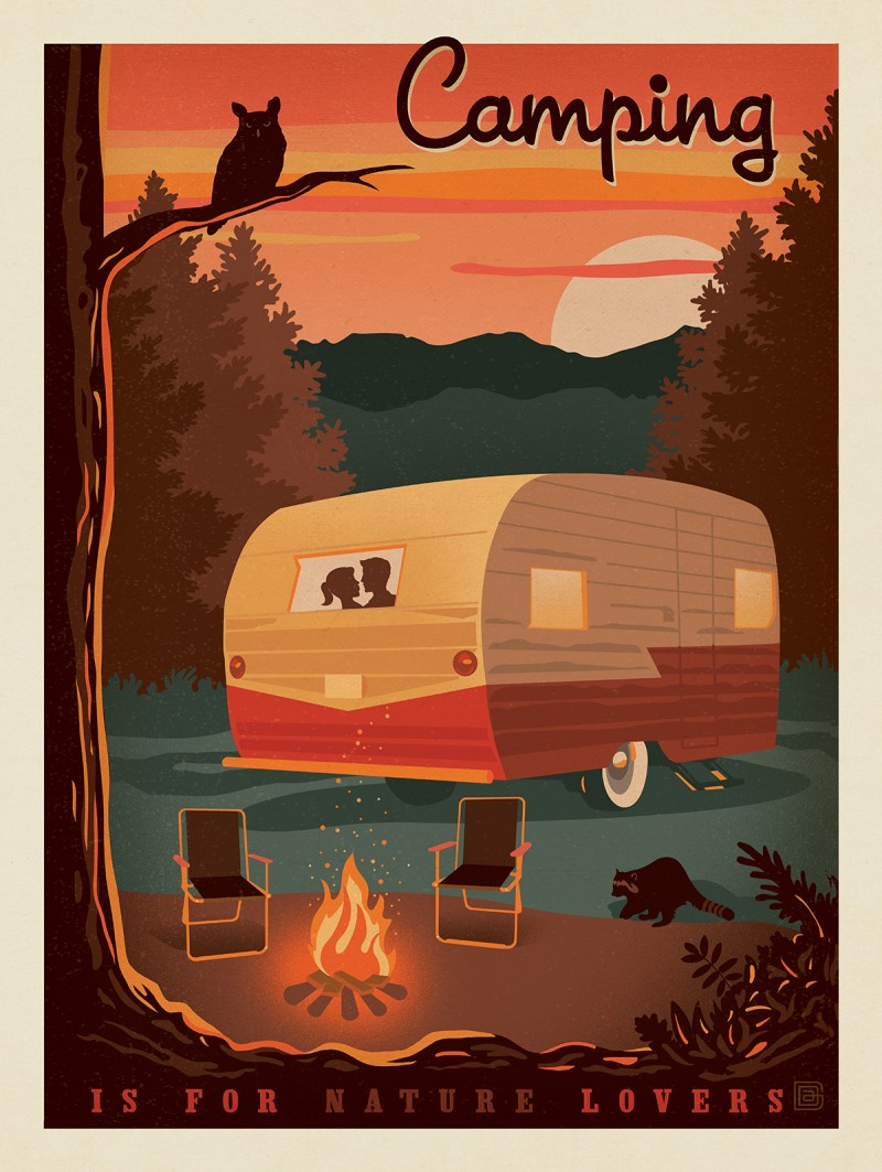 Anderson design group lake and lodge camping is for - Porta poster amazon ...