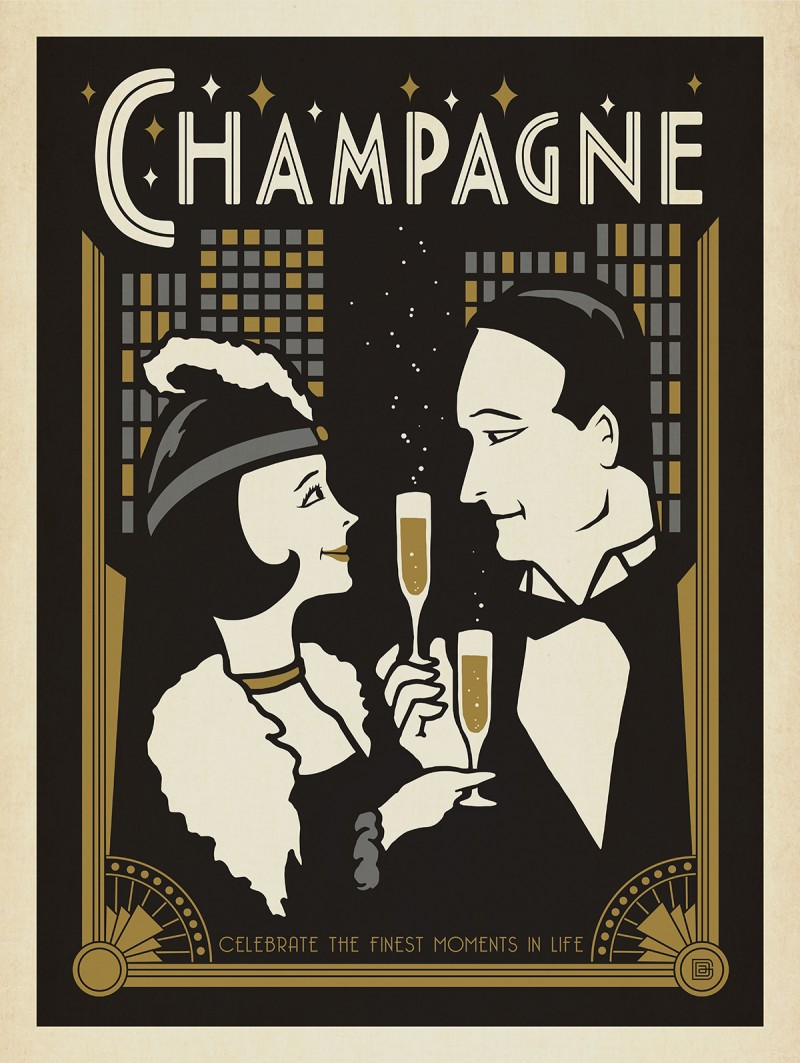 Champagne Art Deco Style Table1