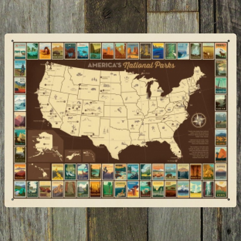 61 National Parks: Map of USA | Anderson Design Group