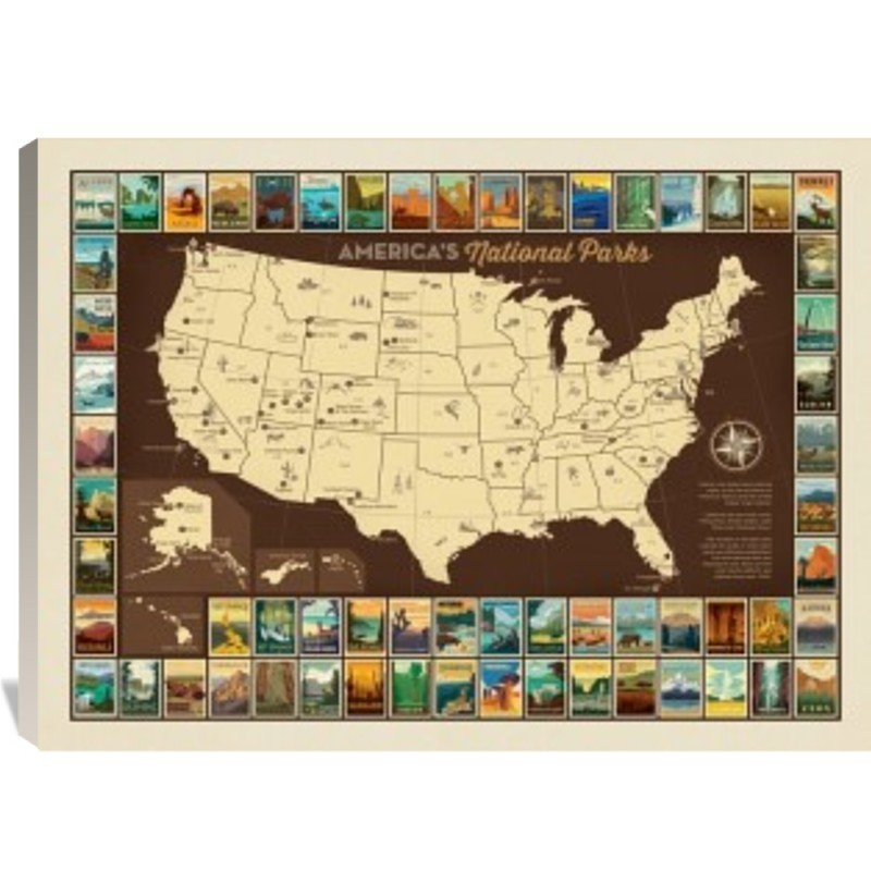 61 National Parks: Map of USA   Anderson Design Group