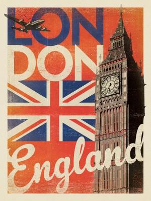 England, London: Vintage Print