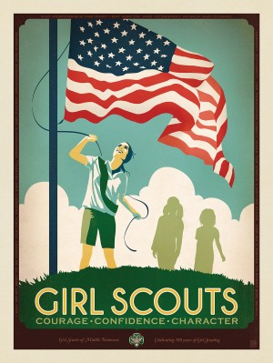 Girl Scouts: Flag Ceremony