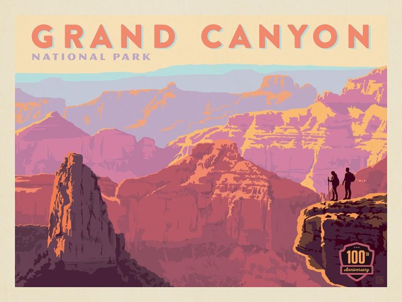 Grand Canyon National Park: 100th Anniversary (Horizontal)
