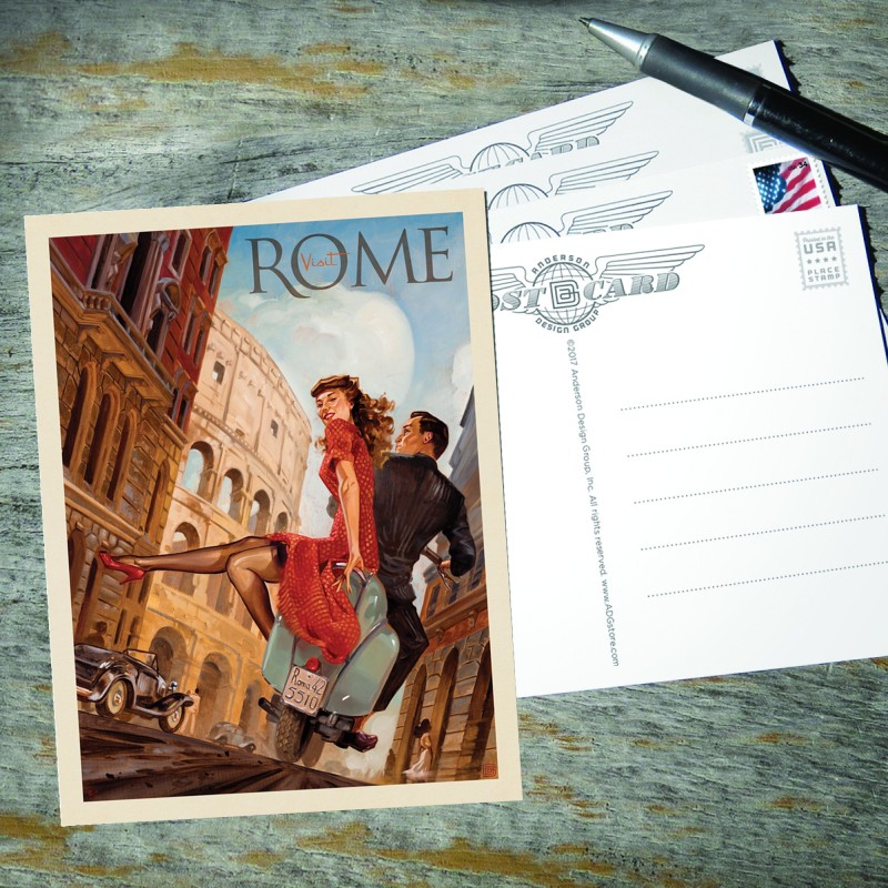 Anderson Design Group World Travel Italy Rome By Vespa