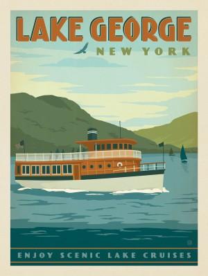 Lake George, NY: Vintage Boat