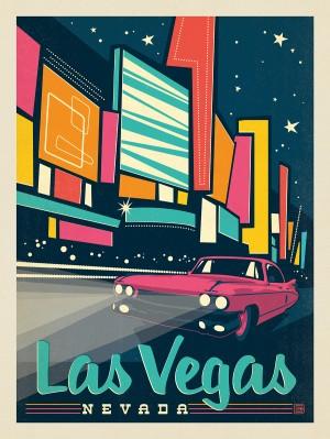 Las Vegas: Modern Print