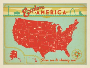Map of the USA Print