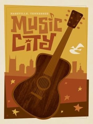 Mod Music City Print