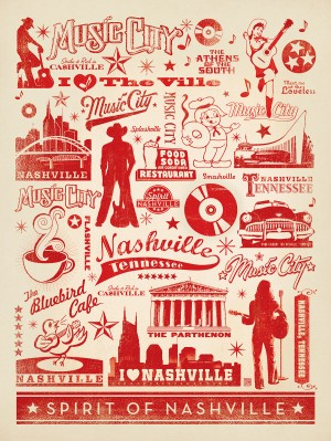 Music City Pattern Print