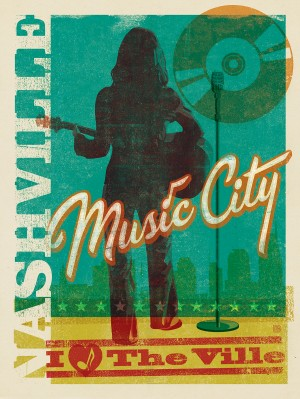 OverPrint: Music City Woman