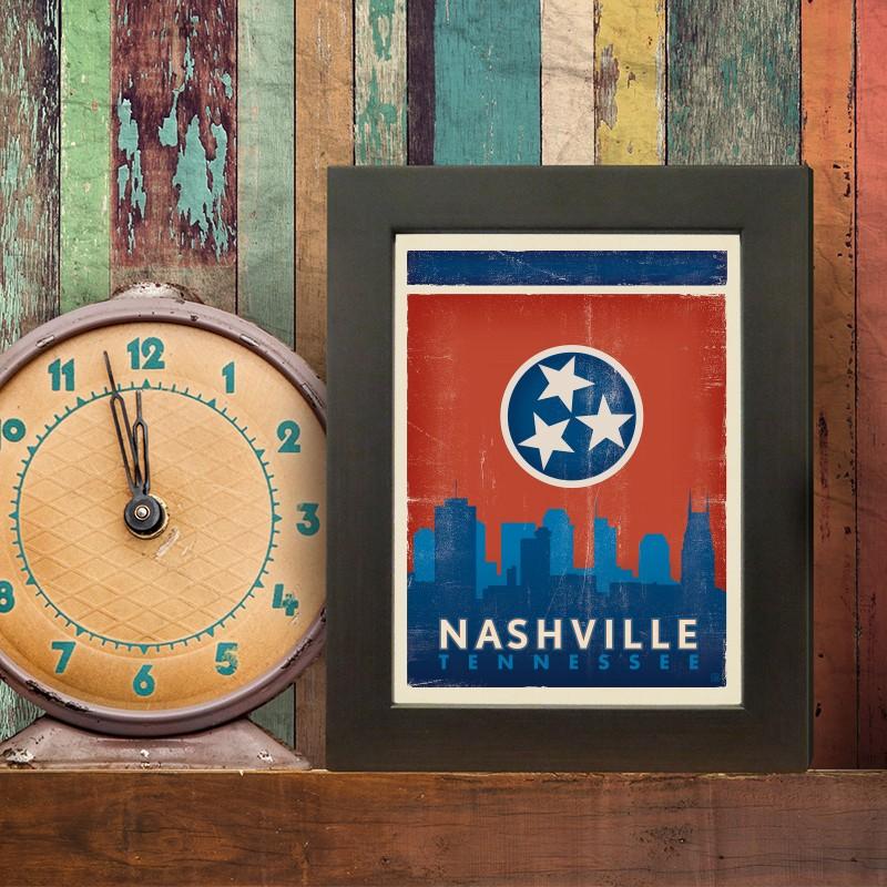 Anderson Design Group Spirit Of Nashville State Flag Skyline