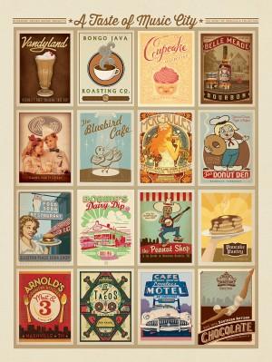 Taste of Nashville Multi-Image Print