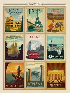 World Travel Multi-Image Print 1