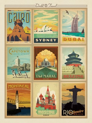 World Travel Multi-Image Print 2