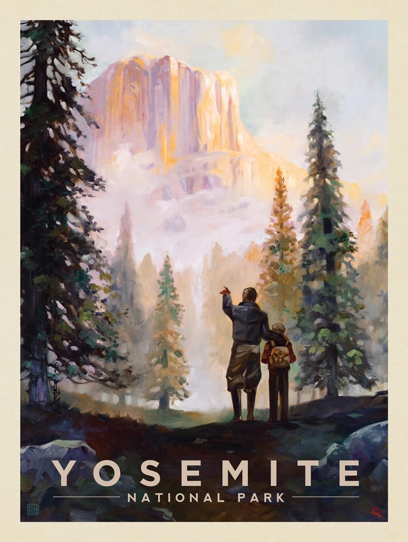 Yosemite National Park: Yosemite Valley Mist-KC