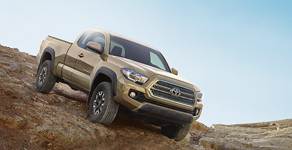 4X4 Access Cab V6 TRD Off-Road shown in Quicksand