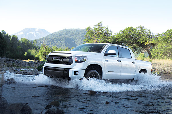 4x4 CrewMax TRD PRO shown in Alpine White