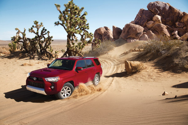 4Runner SR5 V6 Trail Edition shown in Barcelona Red Metallic Brochure p.10