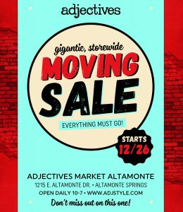 Moving Sale starts 12/26