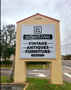 Adjectives Altamonte Road Sign