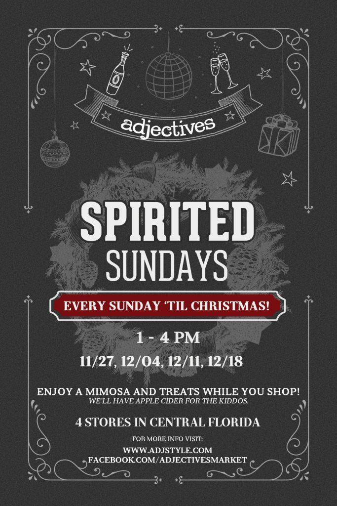 Spirited Sundays at Adjectives
