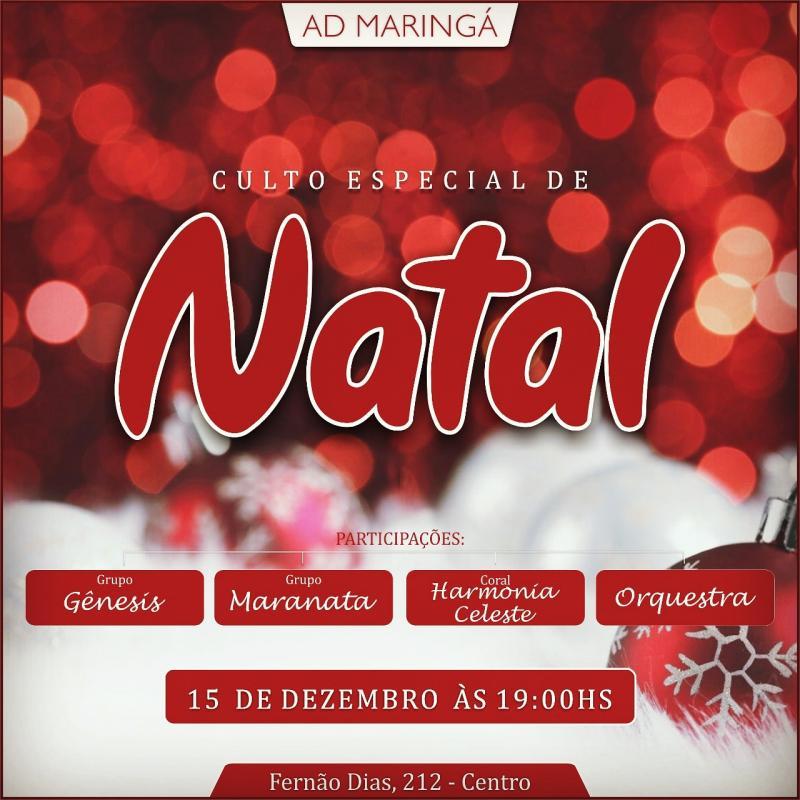 Culto Especial Natal 2019