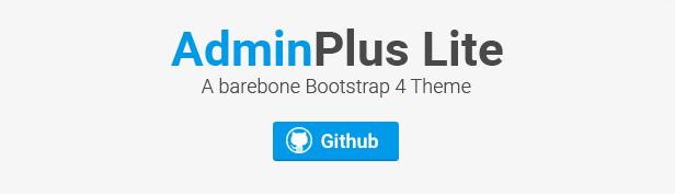 AdminPlus Lite Bootstrap Theme on Github