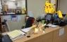 Pikachu was found at my desk!