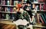 Little boys reading