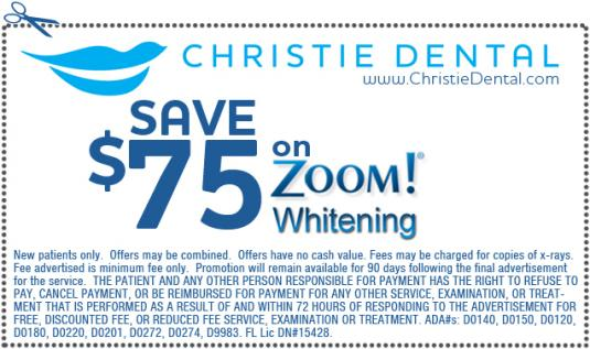 $75 Off Zoom! Whitening