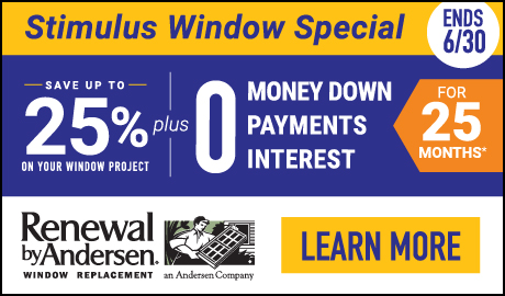 Stimulus Window Special! Save up to 25% on your Project, plus Special Financing!