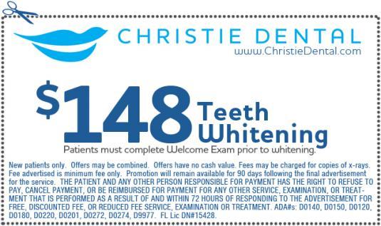 $148 on Teeth Whitening