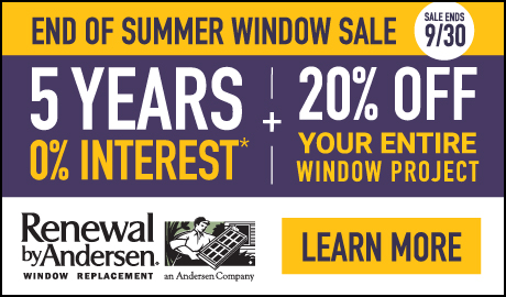 5 YEARS of 0% Interest PLUS 20% off Your Entire Window Project!