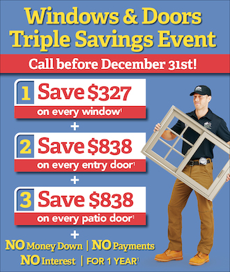 December Window and Door Event! Save BIG, plus Special Financing!