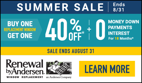 Summer Sale! Buy One Replacement Window, Get One 40% OFF! Plus Special Financing!