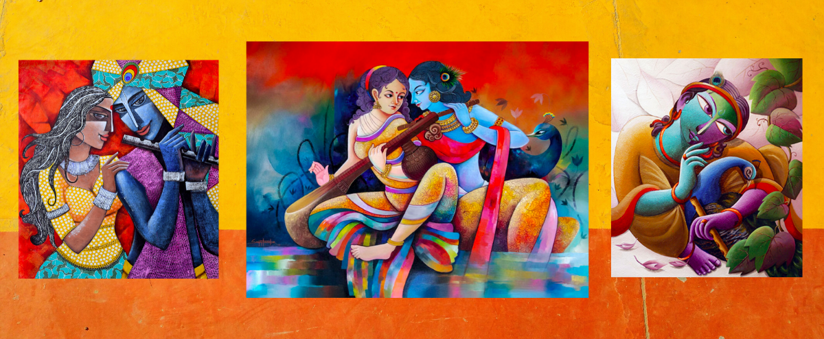 Having Radha Krishna Painting in your Bedroom brings love & happiness in a relationship
