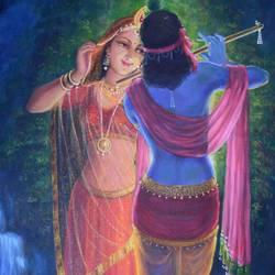 Nikunj - Radha-Krishna size - 18x24In - 18x24