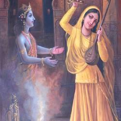 Meera bai - Krishna size - 18x24In - 18x24