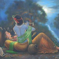 Radha - Krishna size - 24x18In - 24x18