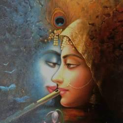 Radha Krishna size - 18x24In - 18x24