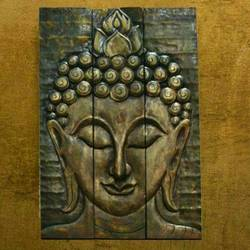 Three panel wall art Buddha  size - 24x30In - 24x30