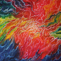 Samudra Manthan - Churning of the ocean size - 30x20In - 30x20