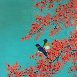 love birds size - 24x30In - 24x30
