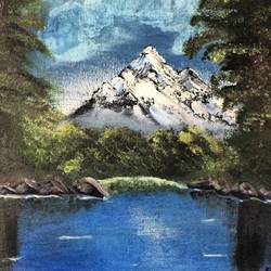 Landscape - A sight Of Himalaya size - 12x16In - 12x16